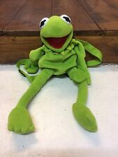 "Disney The Muppets - Kermit the Frog Back Pack 18.5"" in height for 3yrs +"