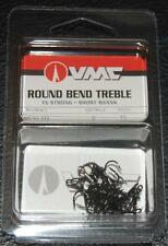 VMC 9650 Round Bend Treble Hooks Size 2 - Pack of 25 9650BN-02 Black Nickel