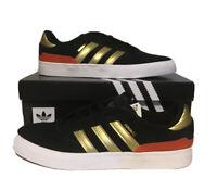adidas busenitz vulc Mens Size 10.5 Black Gold Casual Shoe Skateboarding Sneaker