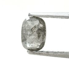 Rustic Natural Diamond 1.04Ct Yellowish Gray Sparkling Oval Rose Cut for Pendant