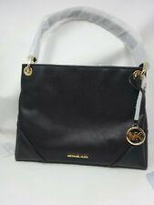 Michael Kors Black Leather Medium Nicole Shoulder Tote Bag Purse BNWT