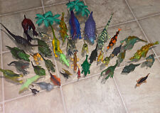 Vintage Dinosaur Toy Lot of 39  Rubber 1986 2008 Pretend Play