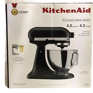 Kitchenaid 4.5 QT Black Stand Along Tilt Head Stand Mixer New Factory Sealed