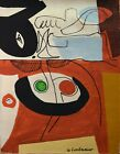 Vintage Abstract Canvas Signed Le Corbusier, Modern Art