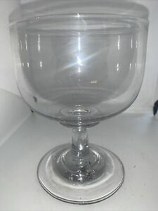 Large Early 19c Hand Blown Glass Rummer Drinking Glass