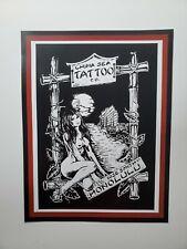 pro copy mike rollo malone '82 vintage tattoo flash pinup girl china sea hawaii
