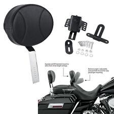 Black Plug-in Driver Backrest Kit For Harley Road King Classic FLHRC 2002- 2013