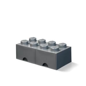 LEGO® 40061754 LEGO Aufbewahrungsbox mit Schublade mit 8 Noppen, Dunkelgrau