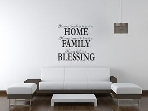 Home wall art sticker lounge living room kitchen dinning room