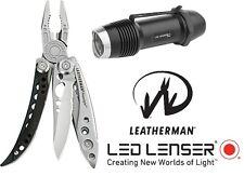 LEATHERMAN Freestyle + LED LENSER F1 Taschenlampe Multi-Tool Taschenmesser NEU