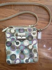 Coach Kristin Graphic Op Art with Sequins Swing pack Crossbody Multicolor 43725