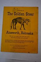 1950's THE GOLDEN STEER Ainsworth Nebraska  FULL DINNER MENU 1950's