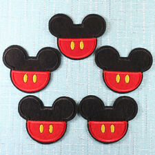 5pcs Mickey Mouse Iron On Sew On Embroidered Patches Embroidery Appliques Crafts
