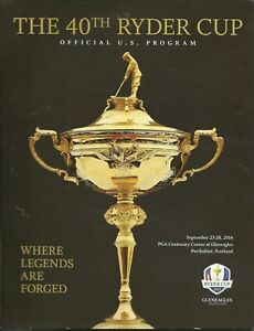 2014 PGA Ryder Cup Official US Program Gleneagles Tiger Woods Rory Spieth Phil