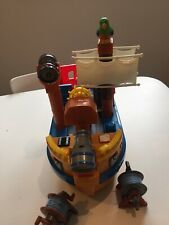 Mega Bloks My Pirate Ship Interactive Singing Toy Boat Captain ,Parrot, Winches