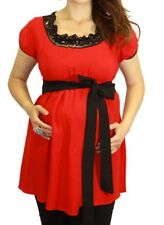 Short Sleeve Red Maternity Pregnant Clothing Pregnancy Wear New Blouse