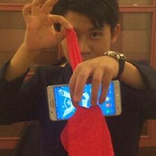 1x Magic Red Silk Thru Phone by Close-Up Street Magic Trick Show Prop Tool hs