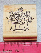 Stampin Up Bitty Bouquets Stamp Single Flowers in a round fancy bowl