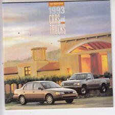 1993 Toyota Car Truck 4 Runner  Celica MR2 Land Cruiser T100 Tercel Brochure /l4