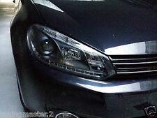 Fari Fanali Anteriori DRL Tuning Diurna Dayline LED Volkswagen Golf VI 6 Neri