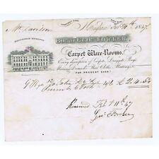 1847 Billhead - George Fowler; Carper Dealer Strettons Yard NOTTINGHAM