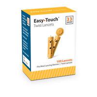 Easy Touch Lancet 33g Twist 100ct