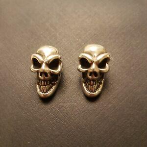 Bill Wall Leather BWL Skull Bead Charm Pendant SILVER 925