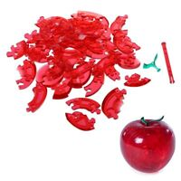 3D Crystal Puzzle - Red-Apple N5W6
