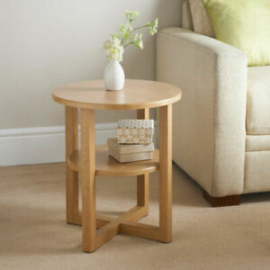 New Jarvis Small Oak Side Lamp Coffee Table, Hallway/Room Furniture Living Room