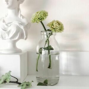 Vintage Style Clear Glass Bottle Small Bud Vase Home Wedding Decoration Assorted