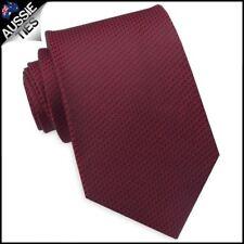 Burgundy Red Woven Texture Mens Tie Men's Necktie