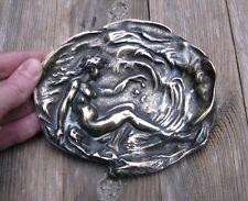 ART Nouveau in ottone nude lady PIN vassoio/vassoio carta/piatto Coin