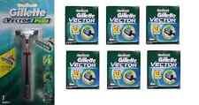 Gillette Vector Plus Razor Handle + Vector Refill Razor Blades 4 ct. (6 Pack)