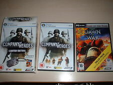 COMPANY OF HEROES LIMITED EDITION PC GAME PC DVD-ROM 15+ Windows XP/Vista