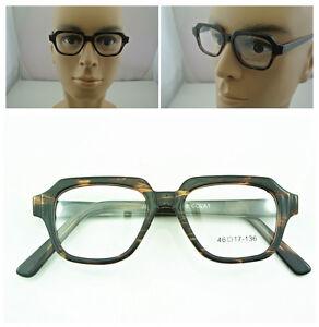HAND MADE 46mm Vintage Tortoise Eyeglass Frame Spectacles Glasses Full Rim