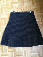 BURBERRY Skirt Harthill Set UK14 Rock black silver 40 42 NWT NEU