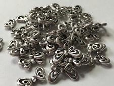 50 Engelsflügel Flügel hell silber 17 x 10  mm Metallperle Spacer Perlen 9037