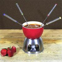 6Pcs/set Stainless Steel Fruit Fondue Dipping Forks Chocolate Fountain Tool D
