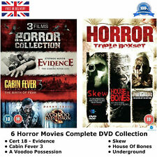 6 Horror Movies Complete Collection Cert 18 - Evidence, Cabin Fever 3 New UK DVD