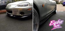GV Style Front Lip For Mazda MX5 MK2.5 NBFL NB FL + Side Skirts Black Gloss !!!