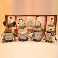 Christmas Candy Storage Basket Santa Snowman Kid Xmas Gift Display Container Box