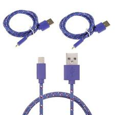 1/2/3M Fabric Braided Charger Data Sync Cable Lead For iPhone 5 5C 5S 6 6 Plus