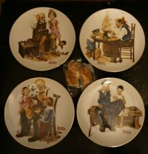 Norman Rockwell Collector Plates Lot of 4 with 4 Hangers