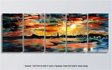 Original Metal Signed Art Abstract Large Painting Indoor Outdoor Decor by Artist