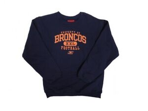 Denver Broncos Youth Navy Property Of Sweatshirt (Medium 10/12)