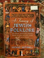 A TREASURY OF JEWISH FOLKLORE  By Nathan Ausubel, 1st Edition 34th Printing