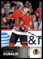 2019-20 UD Overtime Wave 2 Base #102 Dominik Kubalik - Chicago Blackhawks