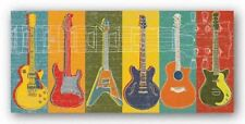 GUITAR ART PRINT Guitar Hero MJ Lew
