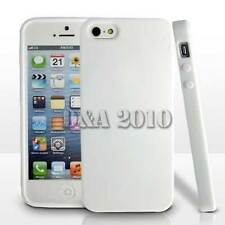 Apple iPhone 5 5s Stylish White Soft TPU Frame Bumper Back Case Cover PROTECTOR