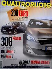 Quattroruote 698 2013 BMW serie 4. Tesla Model S. Prova Peugeot 308. C4 [Q98]